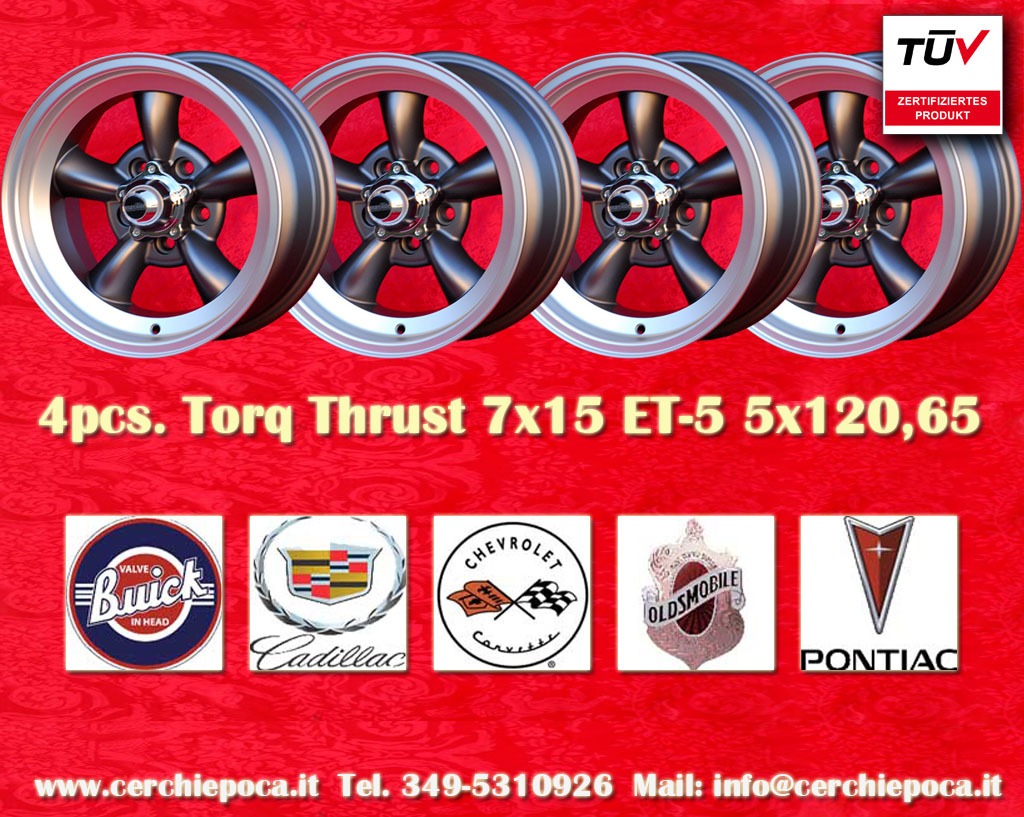 Buick Torq Thrust Buick Century -1982, Gran sport -1982, Regal, Skylark -1980, Le Sabre, Apollo  7x15 ET-5 5x120.65 c/b 83.1 mm Wheel