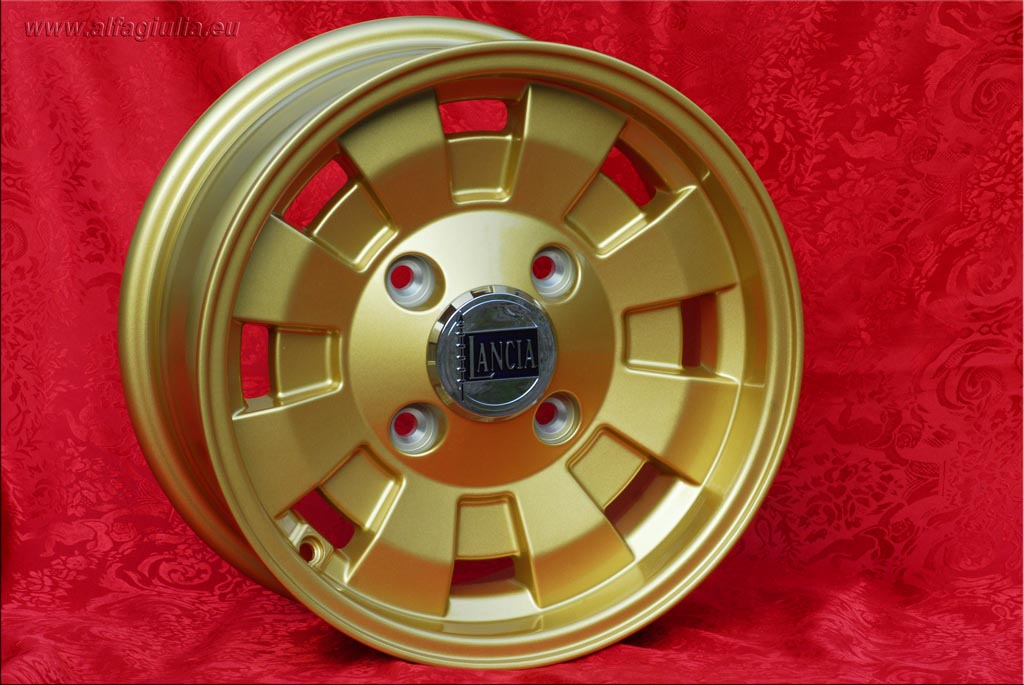 Lancia Cromodora CD28 Gold Lancia Fulvia HF Coupe Zagato  6x14 ET22.5 4x130 c/b 90.1 mm Wheel